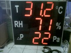 Display Temperature, Humudity, dan Pressure